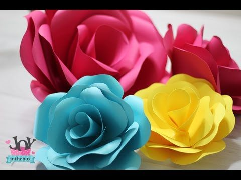 Como fazer rosa de papel {paper flower} - Joy In The Box - Blog
