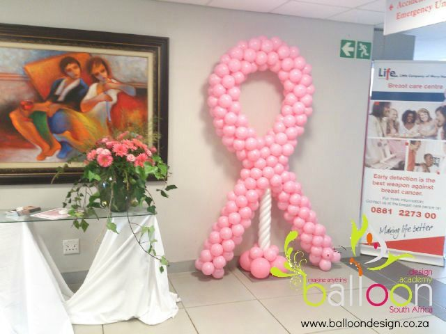 Balloon Ribbon for Breast Cancer Awareness