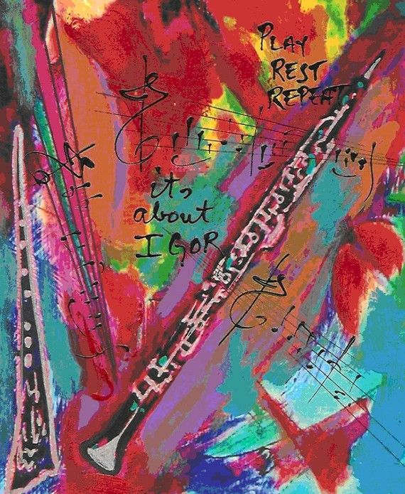 Oboe Music Print by PlayRestRepeat on Etsy, $20.00