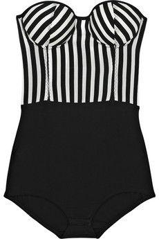 ROSA CHÁ striped strapless bodysuit