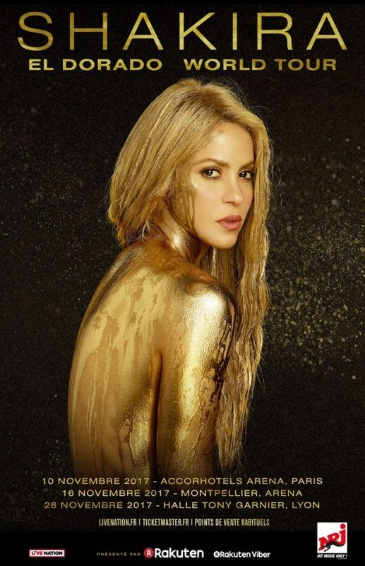 don't miss Évènement : Shakira en concert à l'Arena Bercy de Paris en novembre 2017