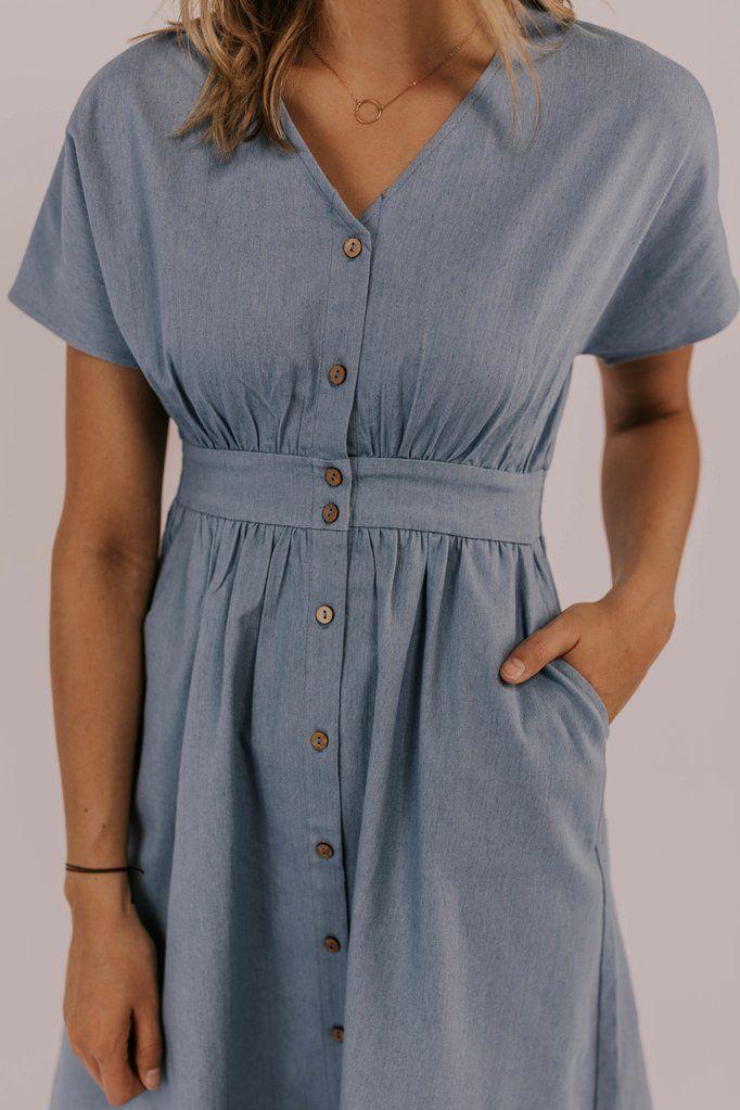Denim Dress – Women's Modest Dresses | ROOLEE