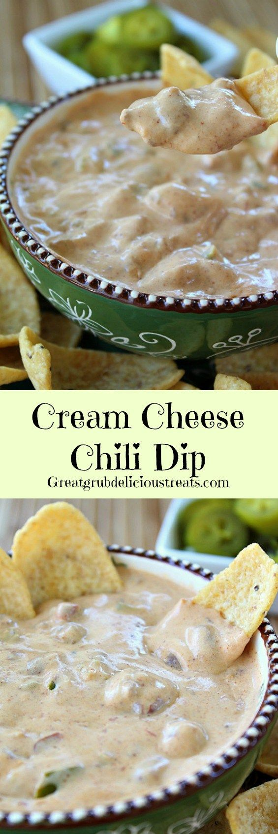 Cream Cheese Chili Dip ~ Just 3 ingredients and you have a delicious tasting, super quick appetizer!