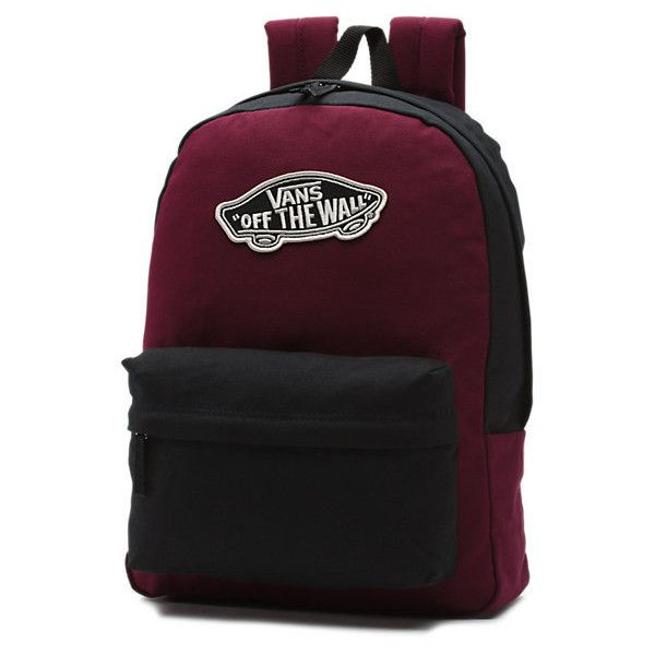 Realm Backpack (45 CAD) ❤ liked on Polyvore featuring bags, backpacks, day pack backpack, vans backpack, vans bag, backpack bags and rucksack bag