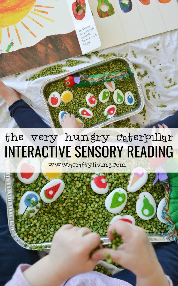 The Very Hungry Caterpillar Interactive Sensory Reading with Story Stones - for Toddlers & Preschoolers! www.acraftyliving...