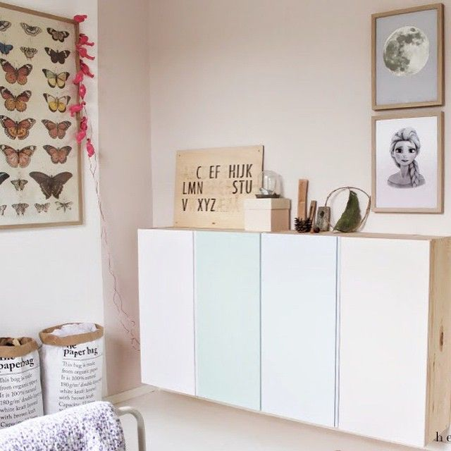 Pale heaven. Ikea storage painted with Dyrups