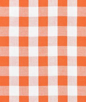 "1"" Orange Gingham Fabric - $3.75 | onlinefabricstore.net"