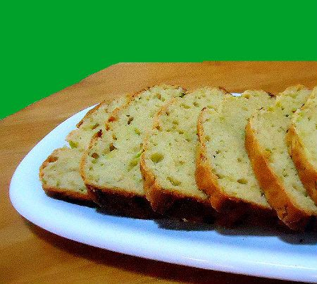 "Savory Parmesan and Zucchini Bread-add cheddar chunks, garlic, thyme, less sugar and a bit more ""liquid"""