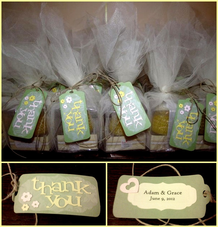 thank you tags bridal shower favors my cousin hemp cousins tulle ...