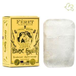 Pierre d'alun naturelle (potassium alum) * déodorante et anti-bactérienne pour aisselles et pieds * astringente et cautérisante pour joues après rasage