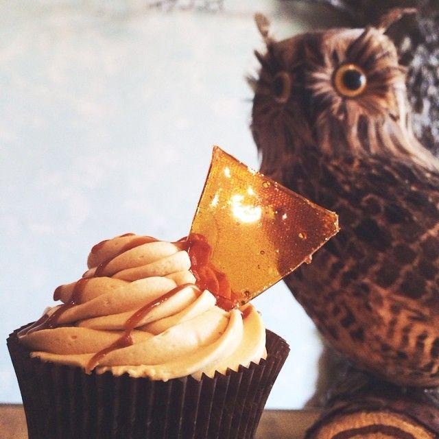 Η εβδομάδα κλείνει με χαριποτερική διάθεση! Butterbeer Cupcake!