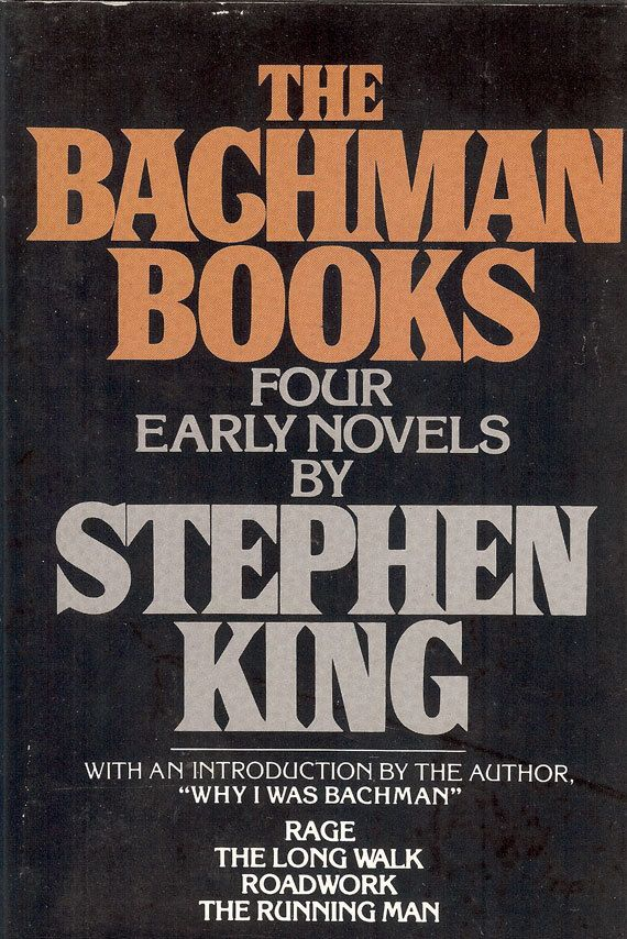 "Vintage Collectibles Stephen King's ""The Bachman Books"" Four Early Novels with an introduction by the author. ""Why I Was Bachman"" Included are ""Rage"", ""The Long Walk"", ""Roadwork"", and ""The Running Man."" This book is a rare treat for Stephen King devotees--four spellbinding novels under one cover, published under the pseudonym of richard Bachman, but with all the gripping suspense of the vintage King by NookCove, $5.34"