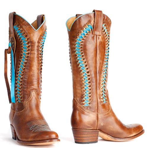 Sendra laarzen debora vlecht bruin - blauw 8990