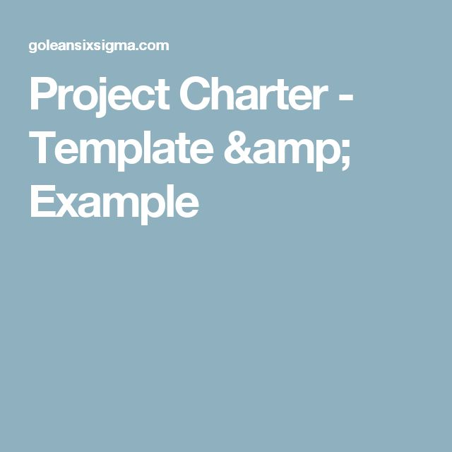Project Charter - Template & Example