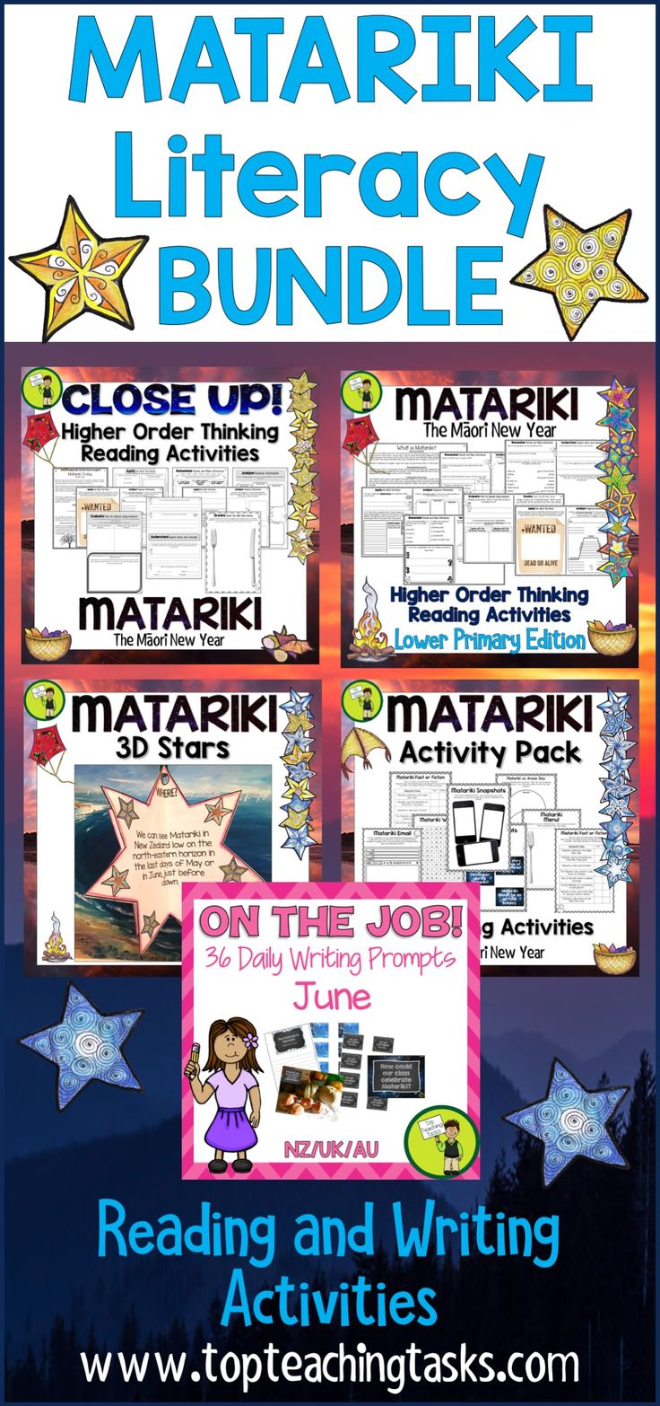 Let us save you time this Matariki and June with our New Zealand Matariki BUNDLE: Matariki literacy resources featuring Reading, Writing, and other activities! Perfect for the NZ (New Zealand) classroom and your guided reading program! Features Matariki activities for kids. #Matariki #MatarikiReading #MatarikiWriting #MatarikiLiteracy