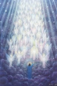 Jerarquia de Ángeles ....Heavenly Hoist of Angels.  Announcing The arrival OF the King of Kings , Jesus the Son of God ..Immanuel God with us... Savior.. The Messiah. JESUS  CHRIST ..My Savior...
