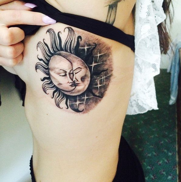 103 best sun and moon tattoos images by small tattoos on for Small sun and moon tattoos