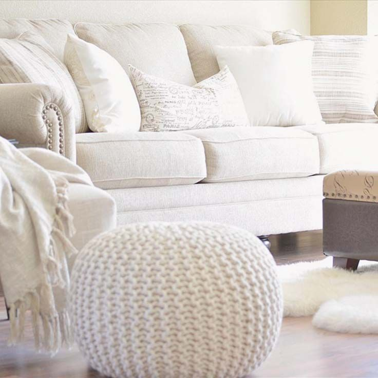 Were In Love With AFW Customer Christinas Neutral Living Room The Milari Linen