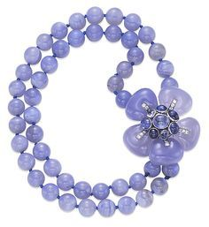 chalcedony necklace, Daisy Fellowes Collection, Cartier