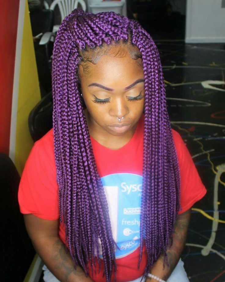 Purple Crochet Box Braids : pink ombre braids looks so stunning against her white dress box braid ...