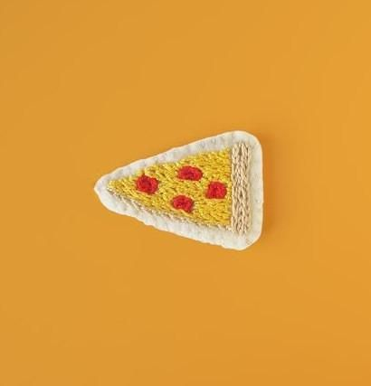 'Pizza' Chain-Stitched Pin/Brooch – Gimme Flair