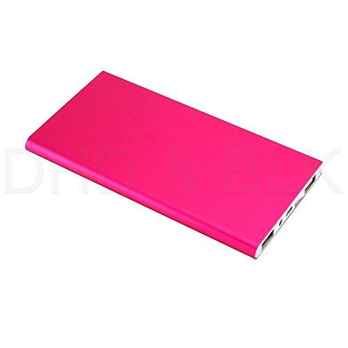 #US Stock Hot Pink Ultra Thin 20000mAh Portable External Battery Charger Power Bank for Cell Phone