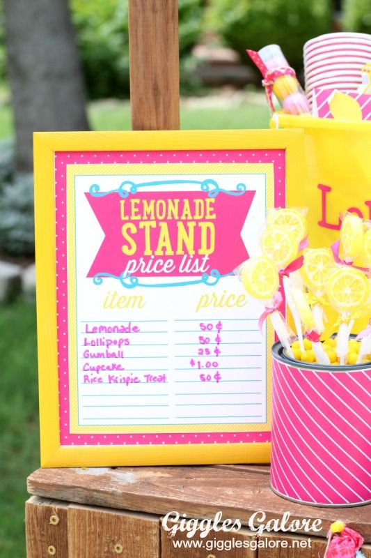 10 Tips for a Successful Lemonade Stand - Giggles Galore