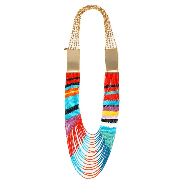 (42) Fab.com | Masai Beaded Dual Plate Necklace