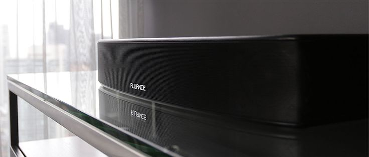 Fluance AB40 High-Performance Soundbase Home Theater System - Front/Side View