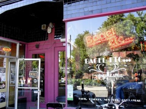 Bagels Etc. best breakfast & bagels in Montreal. Apparently a haunt of Leonard Cohen.