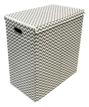 This Grey Double Hamper Laundry Sorter & Lid is perfect! #zulilyfinds