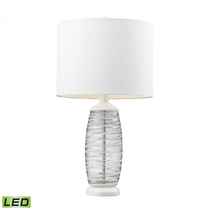 Diamond has created a great combination of stylish blown glass and LED illumination...a lamp of this caliber would suit a master bedroom!
