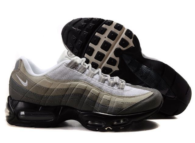 info for 32876 31ace Cheap Cheap Nike Air Max 95 Mens Premium Trainers Black Grey And White Shoes  UK Online Store Store