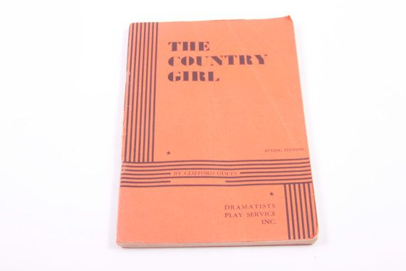 The Country Girl - Clifford Odets - Vintage Stage Play Script  The Pink Room  161026C by ThePinkRoom