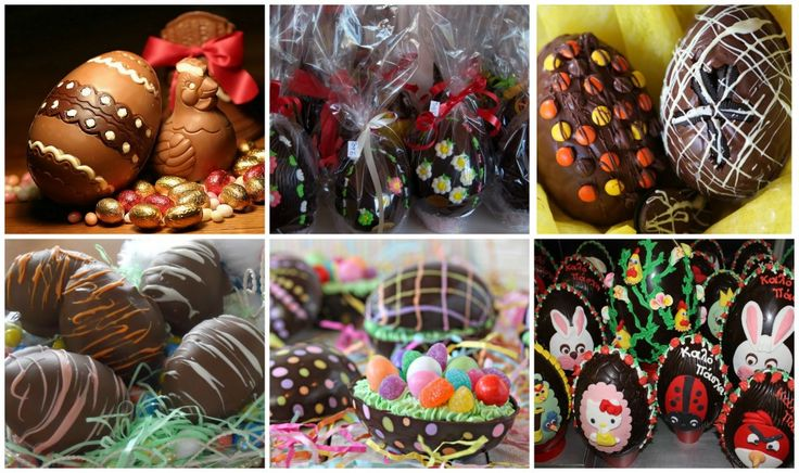 Wonderfully decorated Chocolate Eggs - If you have a kid and most important, if you are godfather or godmother to a child don't forget to buy for them one of the lovely Chocolate Eggs! It is a must for children in Greece during Easter!