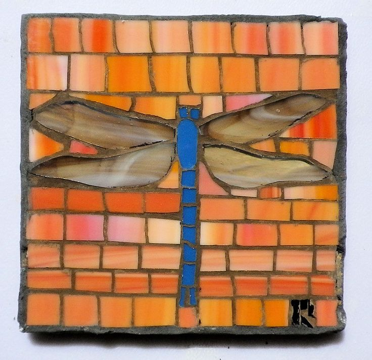 Dragonfly mosaic GGAEE by LachanceGlassMosaic on Etsy