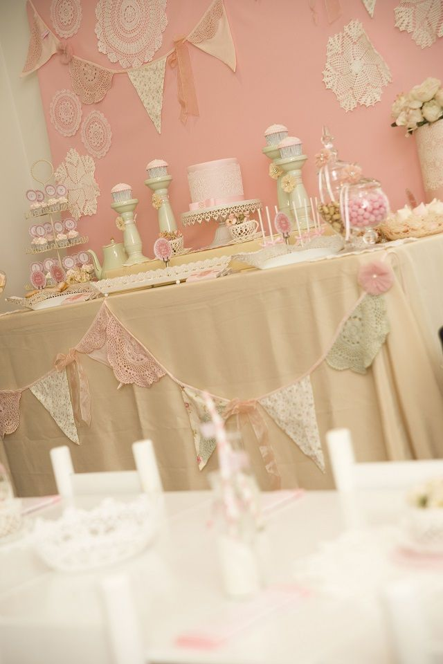 Anders Ruff Custom Designs, LLC: First Birthday Shabby Chic Tea Party