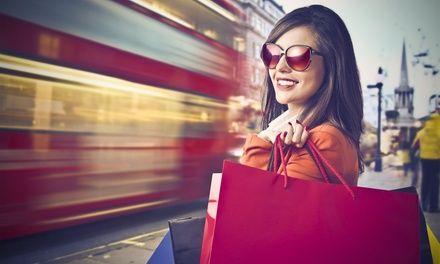 Shopping à Londres: En promotion à 49€. Possibilité de faire des achats pour toute la famille et tous les amis, transport en autocar…