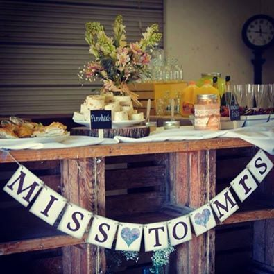 MISS to MRS Rustic Wedding Country Bridal by HandmadePartyDeco, $18.00