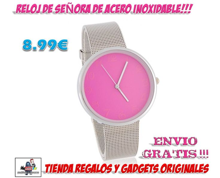 #reloj #original #descuentos #ofertas #comprar #regalos #gadgets #novedades  Un original reloj de pulsera para señora a un precio muy barato, sólo 8.99 €. Venta Reloj de señora de acero inoxidable. Comprar relojes con diseños originales en www.yougamebay.com