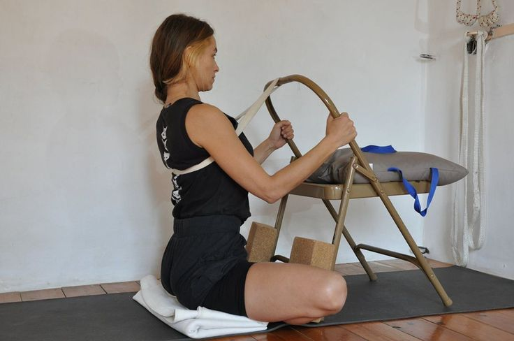 1000 images about iyengar yoga chair on pinterest yoga for Chaise yoga iyengar