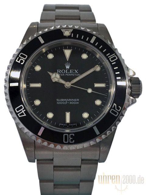 Rolex Submariner 40 mm Edelstahl ohne Datum 14060M gebraucht 2 Liner - Flat Four - F-Serie LC100
