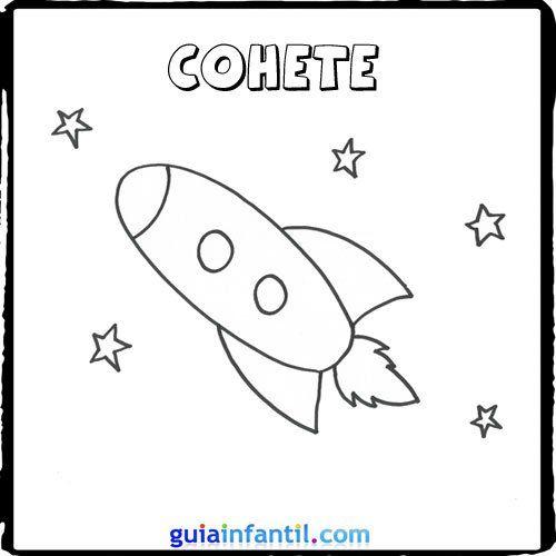 Cohete | hojas para colorear | Pinterest | Transportation unit ...