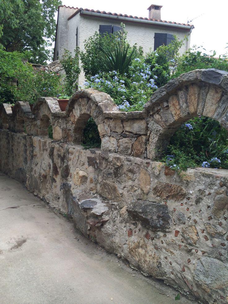 A future wall at a future Casa Juanita. Laroque des Alberes, Laroque des Alberes, Languedoc, France.