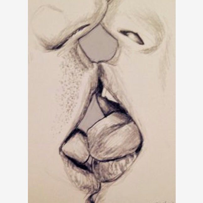 how to draw a couple kissing realistic
