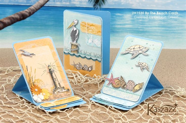2H1530 By The Beach Cards