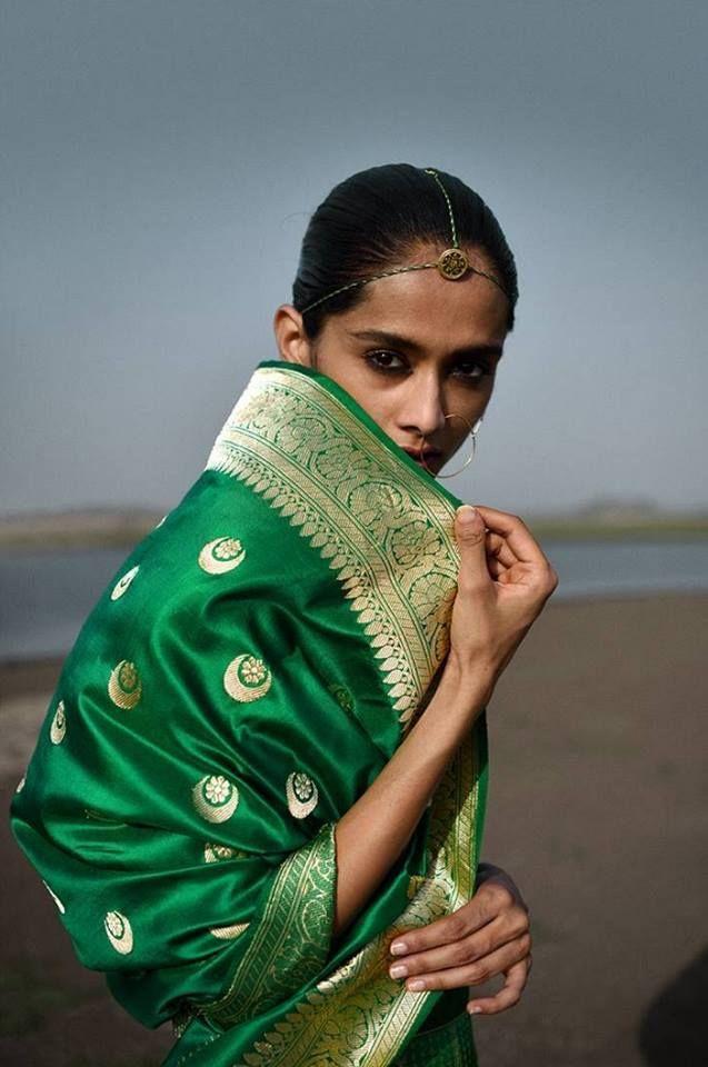 Gorgeous Green Silk Saree