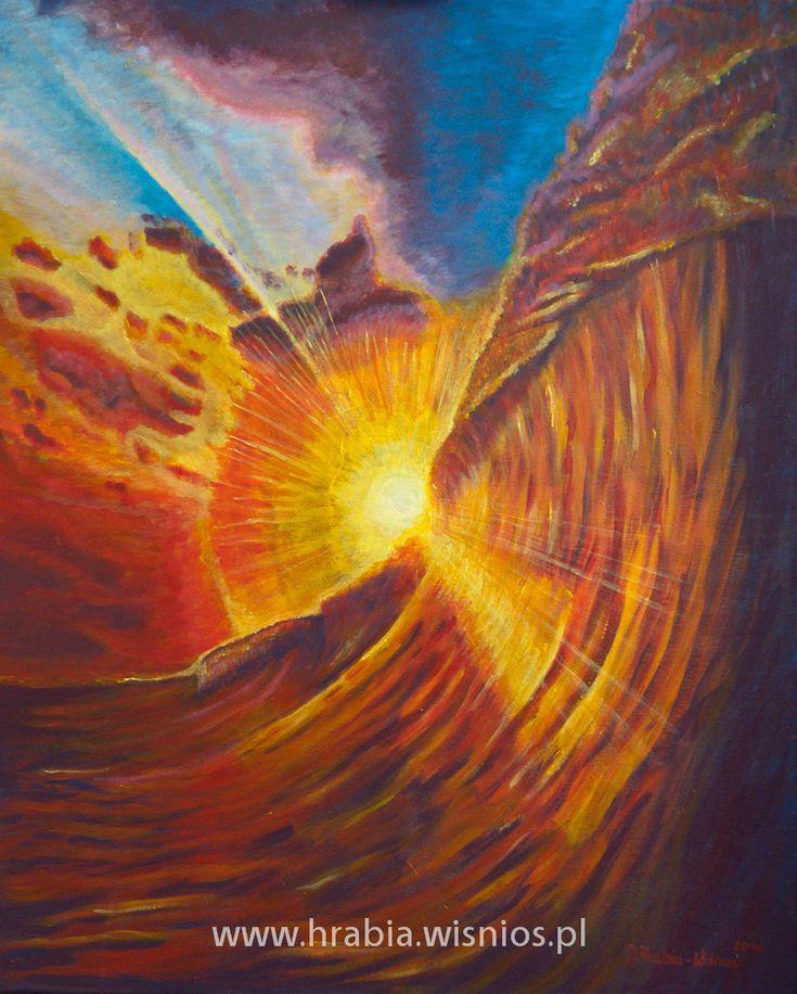 obraz_pejzaż_zachód słońca_akryl-płótno-hrabia-wiśnios-landscape-sunset-1