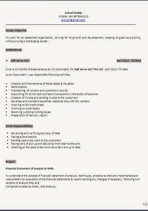 elegant resume template Sample Template Example ofExcellent - balance sheet format