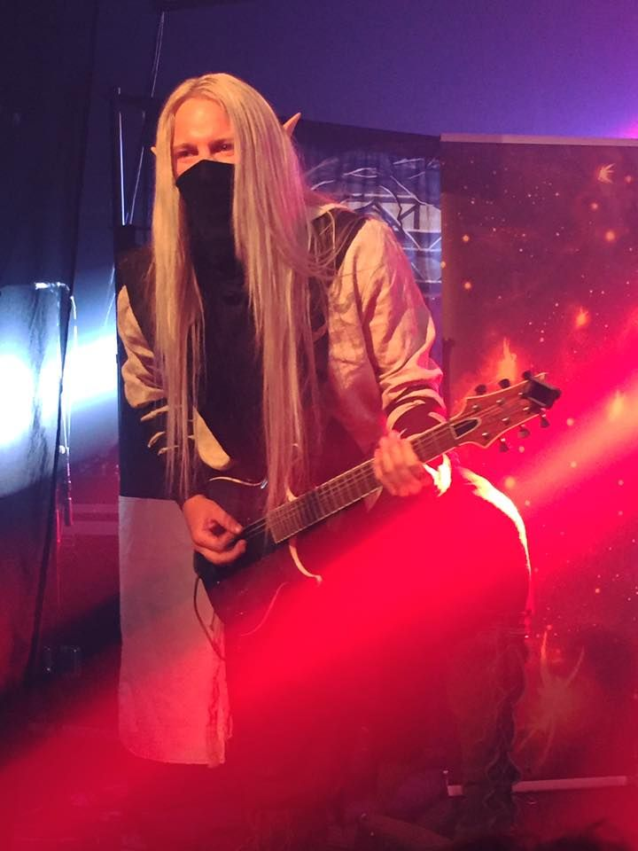 Aerendir - Twilight Force ⚫ Photo by Johanna Adolfsson ⚫ Huskvarna 2016 ⚫ #TwilightForce #music #metal #concert #gig #musician #Aerendir #guitar #guitarist #elf #performing #playing #mask #wow #warcraft #anime #tabard #bracers #dragon #fire #castle #blond #longhair #festival #photo #fantasy #magic #cosplay #larp #man #onstage #live #celebrity #band #artist #performing #Sweden #Swedish #Huskvarna #FolketsPark